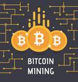 golden bitcoin digital currency vector image vector image