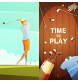 Golf 2 Retro Vertical Banners Set vector image vector image
