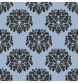Gothic floral seamless pattern with gray flowers vector image vector image