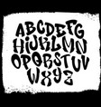 handwritten graffiti font alphabet alphabet on a vector image vector image