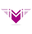 letter m wings symbol design icons vector image vector image