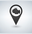 map pointer and map icon car service engine sign vector image vector image