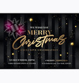 merry christmas invitation design horizontal vector image vector image
