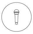 microphone icon black color in circle vector image vector image