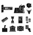 money and finance black icons in set collection vector image