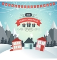 new year winter holidays landscape merry vector image vector image