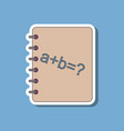 paper sticker on stylish background math book vector image vector image