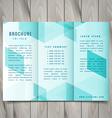 polygonal trifold brochure design vector image vector image