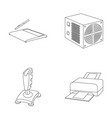 power unit dzhostik and other equipment personal vector image vector image