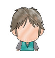 profile anime tennager faceless drawing vector image