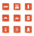 repair pad icons set grunge style vector image vector image