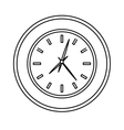 round wall clock icon image vector image