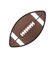 rugball isolated icon athletic equipment vector image vector image