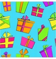 seamless pattern with flat cartoon style present vector image vector image