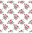 Seamless watercolor pattern with cherry tomatoes vector image vector image