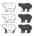 Set of Six Bear Silhouette vector image vector image