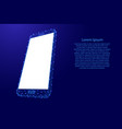 smartphone cell web online mobile phone from vector image vector image
