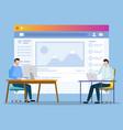 social media developers or web designers at work vector image