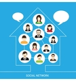 Social network house vector image vector image