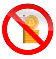 stop mining icon vector image vector image