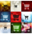 trolley icon on blurred background vector image vector image