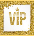 vip premium invitation card poster or flyer vector image
