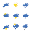 weather forecast sign vector image