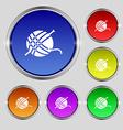 Yarn ball icon sign Round symbol on bright vector image