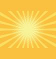 yellow rays pop art background vector image vector image