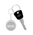 keychain with keytag vector image