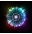 Abstract Colorful Magic Glow Ray Lights vector image