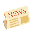 news icon newspaper icon isolated on white vector image