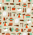 Seamless pattern working tools icons Home repair vector image