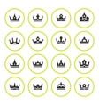 Set round icons of crown vector image