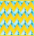 yellow zigzag seamless pattern vector image