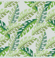 abstract exotic leaves seamless pattern background vector image vector image
