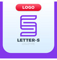 abstract letter s logo in a contemporary style vector image