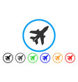 airplane rounded icon vector image vector image