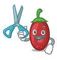 barber goji berries character cartoon vector image