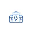 batteryenergy power line icon concept battery vector image vector image