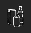 beverage chalk white icon on black background vector image