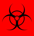 biohazard sign warning radiation hazard vector image