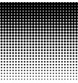 black halftone dots on white background vector image vector image