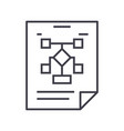 business organizationflow chart line icon vector image