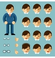 Businessman cartoon emotions vector image