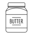 butter nut icon outline style vector image