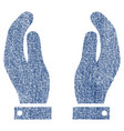 care hands fabric textured icon vector image vector image