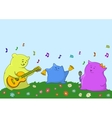 Cartoon toy animals musicians vector image vector image