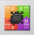 creative jigsaw puzzle poster template with four vector image