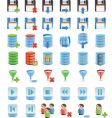 database details icon set vector image vector image